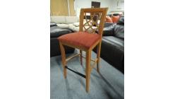 Barová židle hnědočervená