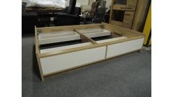 Nová bílohnědá postel s šuplíky