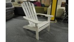 Nové bílé zahradní křeslo dřevo