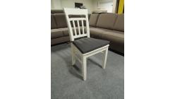 Nová bílá stylová židle dřevo
