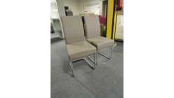 Nová 2x světle hnědá židle koženka