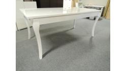 Nový stylový bílý jídelní stůl lesk