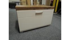 Nový malý hnědobílý TV stolek