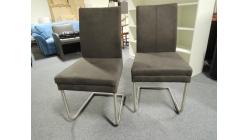 Nová 2x tmavě šedá židle