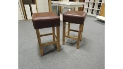 Nová 2x stylová barová židle palisandr