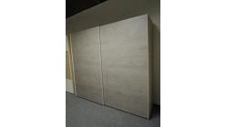 Nová hnědošedá šoupací skříň 2 dveře