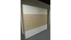 Nová hnědobílá šoupací skříň 2 dveře