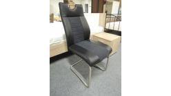 Nová černá židle kovový úchyt