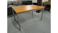 Nový hnědostříbrný stůl
