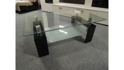 Nový černý konf. stůl sklo
