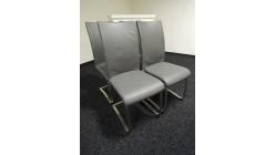 4x šedá židle koženka