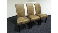 Nová 3x vysoká hnědá židle vintage