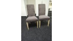 Nová 2x hnědá židle sv. nohy