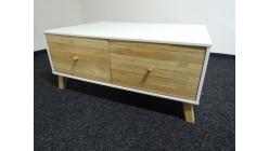 Nový bílohnědý konferenční stolek