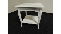 Malý stylový bílý konferenční stolek patina