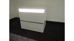 Nový bílý noční stolek lesk s LED osvětlením