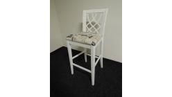Stylová bílá barová židle