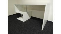 Nový bílý psací stůl lesk