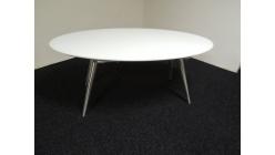 Nový luxusní ovál bílý jídelní stůl