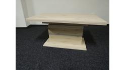 Hnědostříbrný konferenční-jídelní stůl