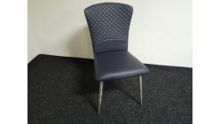 Nová modrá prošívaná židle