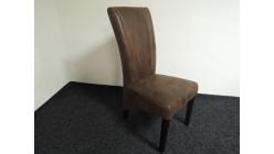 Nová mohutná hnědá židle černé nohy