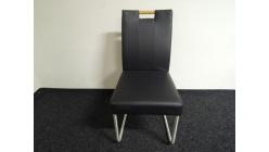 Nová tmavá židle koženka madlo dřevo