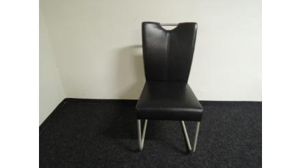 Nová černá židle koženka madlo nerez