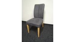 Nová tmavě šedá židle nohy dřevo