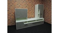 Nová luxusní šedobílá obývací stěna