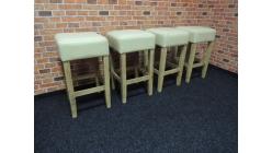 Nová 4x barová židle akát