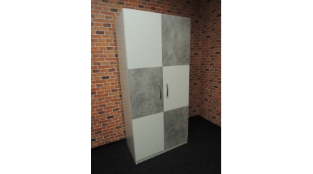 Nová bílošedá skříň 2 dveře