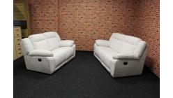 Nová bílá sedací souprava 2+2 komplet manuálně polohovací