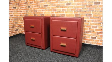 Nový 2x červený noční stolek