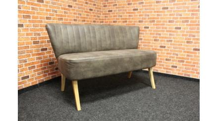 Nová retro lavice hnědá látka