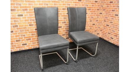 Nová 2x šedá židle dvojitý sedák