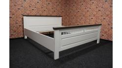 Nová stylová manželská postel bílohnědá