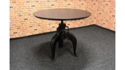 Nový černý jídelní-barový stůl INDUSTRIAL
