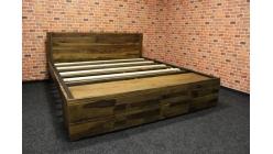 Nová dřevěná postel palisandr 180x200 cm