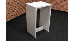 Nový bílý odkládací stolek lesk