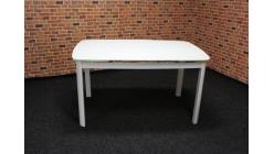 Nový bílý rozkládací jídelní stůl sklo