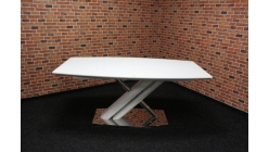 Nový bílý jídelní stůl rozkládací šikmá noha