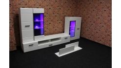 Nová bíločerná obývací stěna lesk
