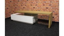 Nový hnědobílý TV stolek dřevo