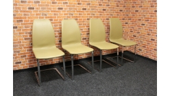 Nová 4x světle hnědá židle koženka