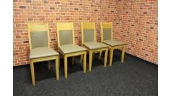 Nová 4x masiv židle potah koženka