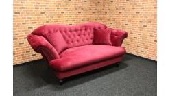 Nový stylový červený gauč s knoflíky