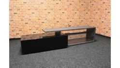 Nový luxusní šedočerný TV stolek lesk