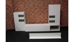 Nová bílá obývací stěna lesk TECNOS