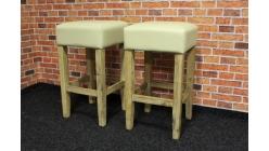 Nová 2x barová židle akát